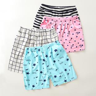 男童睡褲薄款夏中大童寬鬆短褲沙灘褲女童五分熱褲兒童棉質家居褲