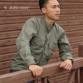 战术衬衫男长袖春秋防水透气耐磨多袋军迷薄款外套部队户外衬衣男图片
