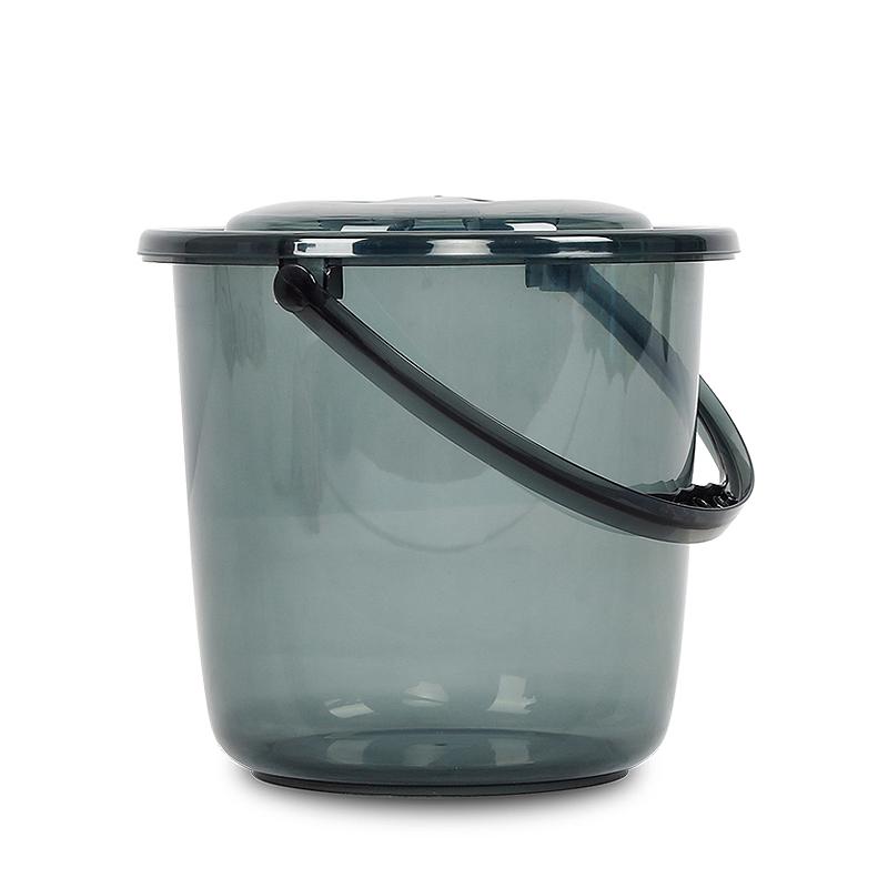 新品塑料水桶带盖大小号透明桶洗衣桶手提洗车桶圆型储水
