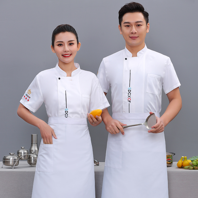 Chefs workwear summer season short sleeve uniform custom logo farmhouse Restaurant Restaurant Kitchen tooling pastry chef