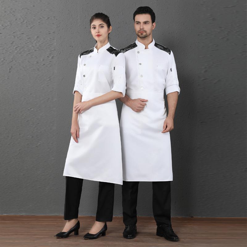 厨师工作服秋冬季长袖制服定制LOGO酒店后厨烹饪工装早餐厅面点师