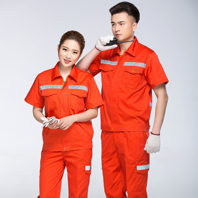 Maintenance clothes engineering clothes summer short sleeve factory workshop electrician welder clothes maintenance clothes outdoor work clothes