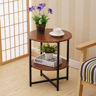 边几现代简约小茶几移动角几沙发边桌边柜床头桌置物架北欧小圆桌图片