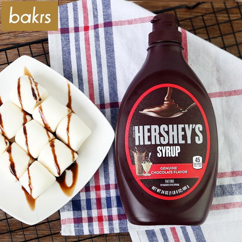 好时巧克力酱 巧克力味糖浆冰激凌蛋糕装饰680g 脏脏包原料
