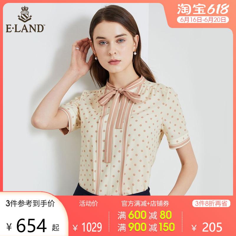 SCOFIELD女装2021春季新品时尚波点系带领结气质衬衫SFBAB2420Q
