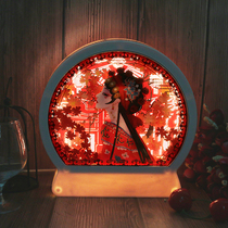 3D立体光影纸雕灯古风中国风创意剪影纸艺手工小夜灯故宫文创礼物