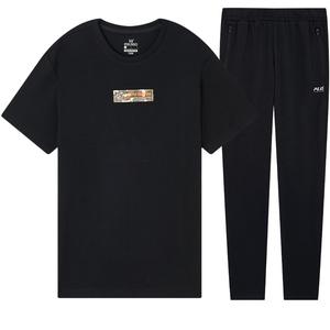361度男装运动套装2021夏季t恤