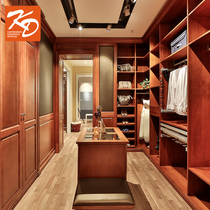 KD Katie Overall open design custom storage solid wood wardrobe walk-in cloakroom prepaid gold