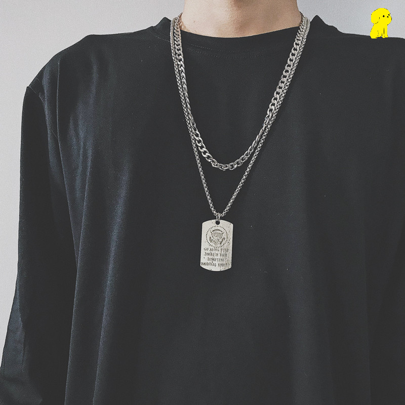 Thick chain necklace, tiaodi mens and womens fashion ins pendants, hip hop jumper, fashion brand, simple chain accessories