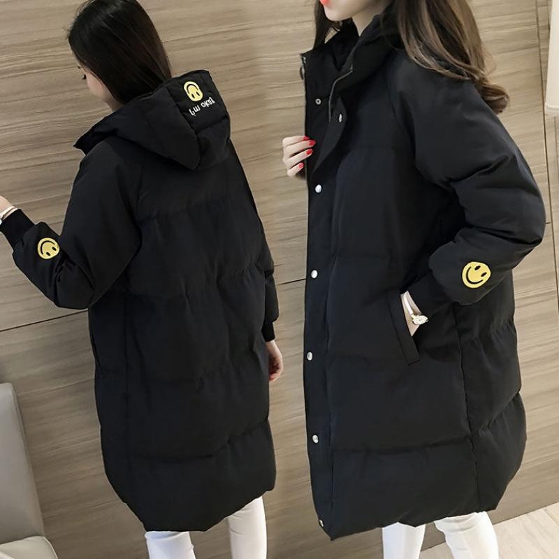 2019冬季棉袄棉衣女中长款面包服韩版学生宽松加厚冬天棉服外套女