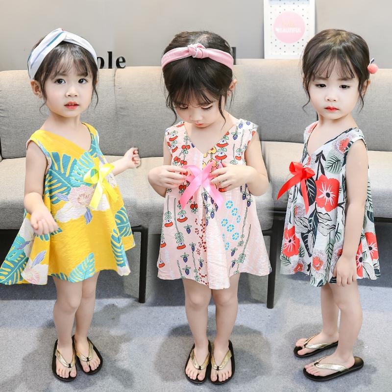 0-1-2-3岁女童夏季女宝宝连衣裙公主裙夏装婴儿棉绸睡衣洋气吊带11月05日最新优惠