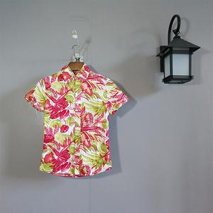 梦蓝椰海南岛服女士衬衣沙滩服三亚旅游度假服饰 夏威夷花衬衫c20