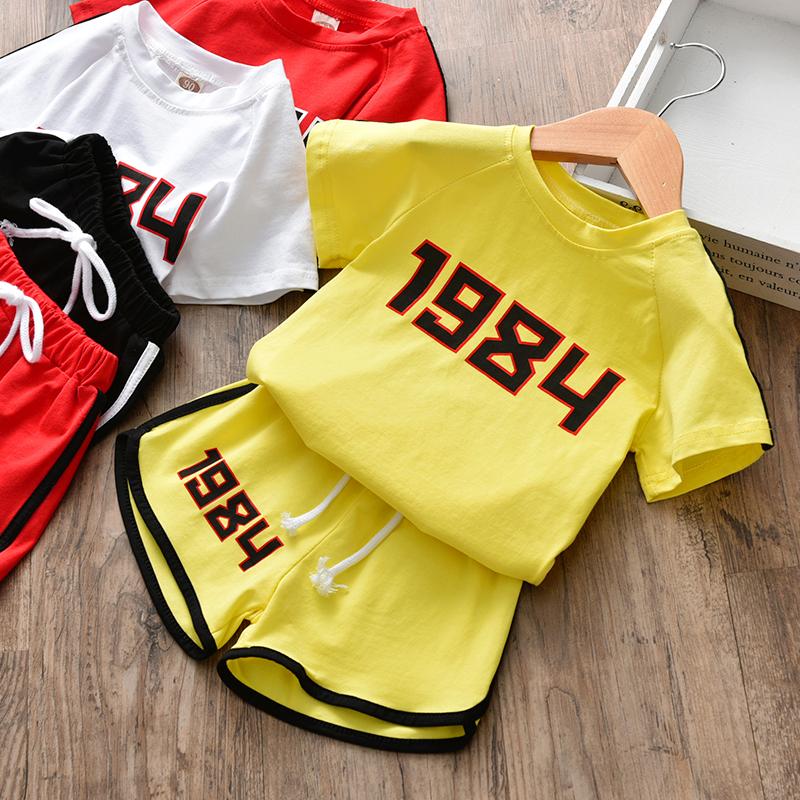 童装女童夏装2018新款夏季儿童时髦洋气运动套装女小童短袖两件套