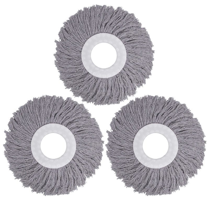 Rogge universal rotary mop head cloth pier replacing head cotton mop rod holder household two density thickened accessories