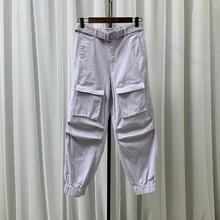 ONLY ICE2020夏季新款松紧宽松束脚休闲裤工装裤女潮 120150538