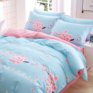 纯棉四件套100%全棉床单被罩200x230秋冬网红款被套床上用品4件套