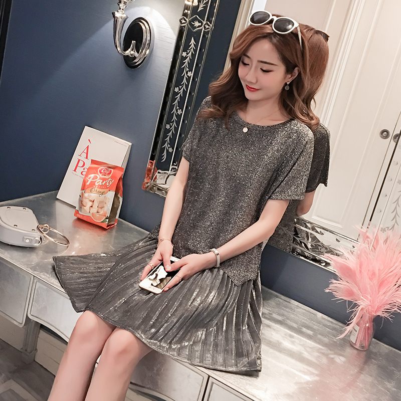 823a778829861 Summer Section Korean version of the meat show thin worry with a set of  dress strap dresses maternity clothes   ezbuy.my