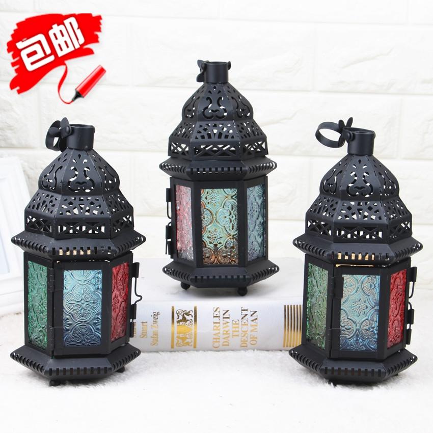 新品包邮神秘摩洛哥风情铁艺烛台婚庆道具创意装饰品样板房摆设