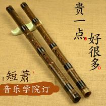 调八孔六孔萧大人初学入门零基础FG迪海精制洞箫乐器两节紫竹箫