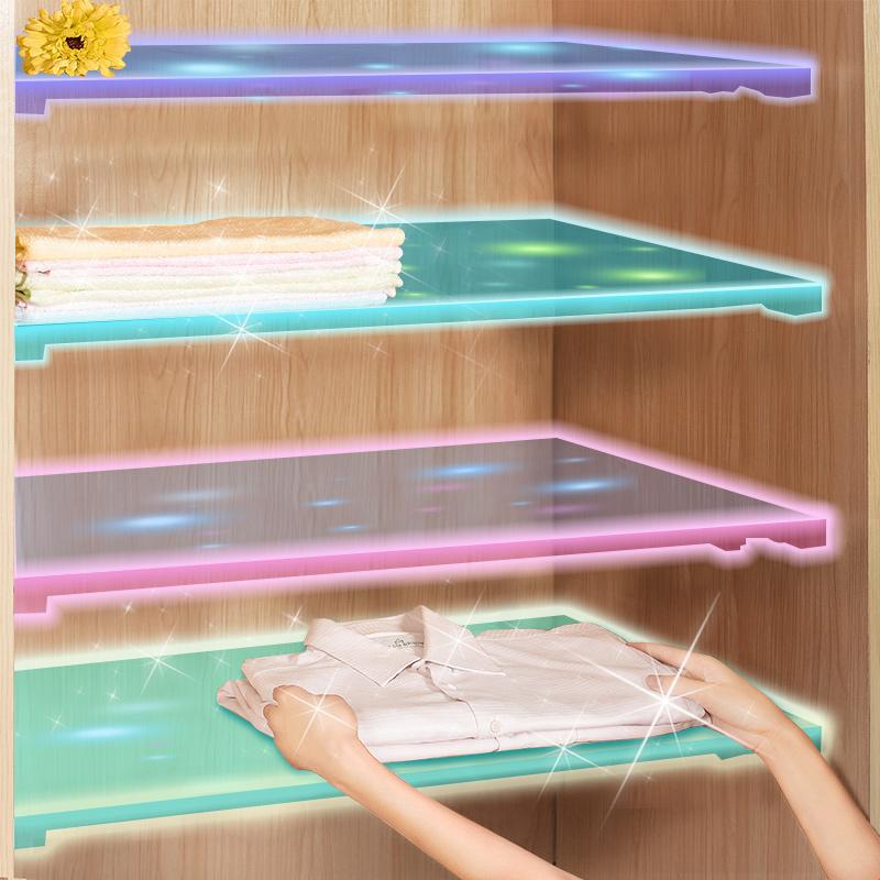 衣柜分层隔板橱柜衣橱隔层隔断鞋柜宿舍收纳伸缩柜子分层架置物架