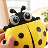 etravel / Easy trip ladybird creative toothbrush holder toothpaste discharge suction strong suction cups wall box housing a tooth