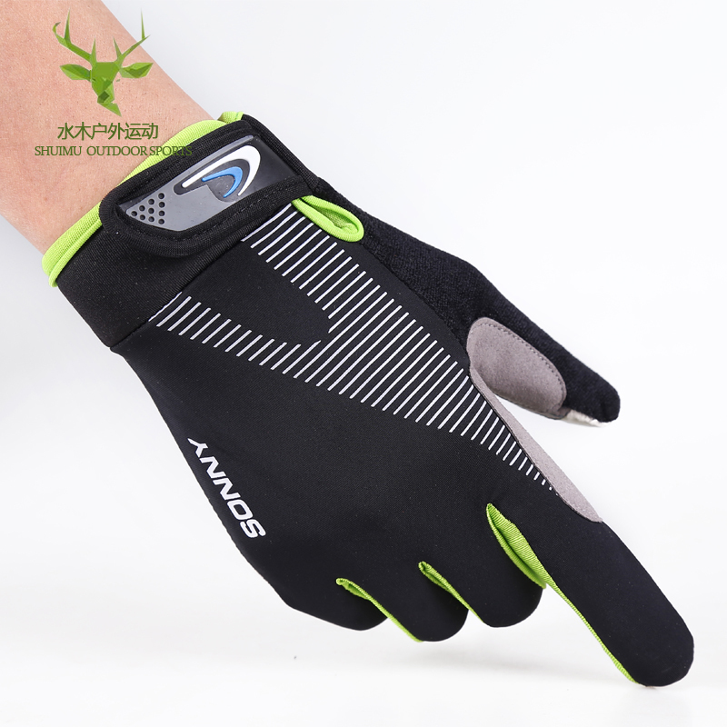 Cycling gloves for men and women: autumn and winter thin touch screen antiskid sports outdoor mountaineering bicycle equipment gloves