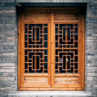 厂家直销中式实木仿古门窗花格定做定制榆木窗户屏风东阳木雕