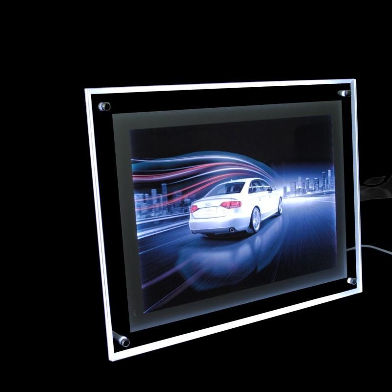 超薄水晶灯箱 价格表A4A3水晶灯箱点餐广告LED点餐牌亚克力价目表