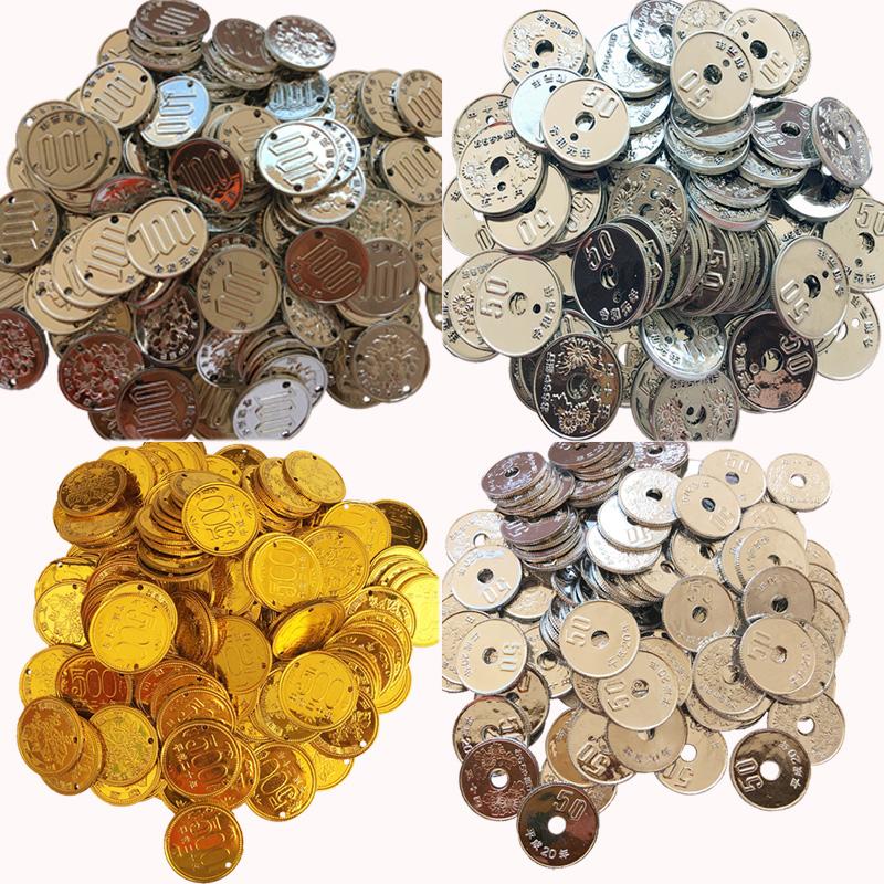 儿童仿真钱币硬币玩具 宝宝储钱罐硬币金币 日本仿真钱币魔术道具