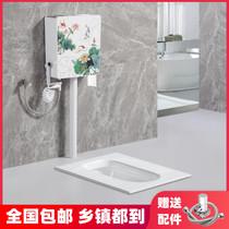 科勒蹲便器水箱整套陶瓷大便器防臭蹲厕整套蹲坑便池家装工装包邮