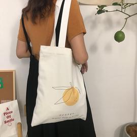 倪酱小铺 ins单肩帆布包女学院风原创设计布袋包日系学生包包简约图片