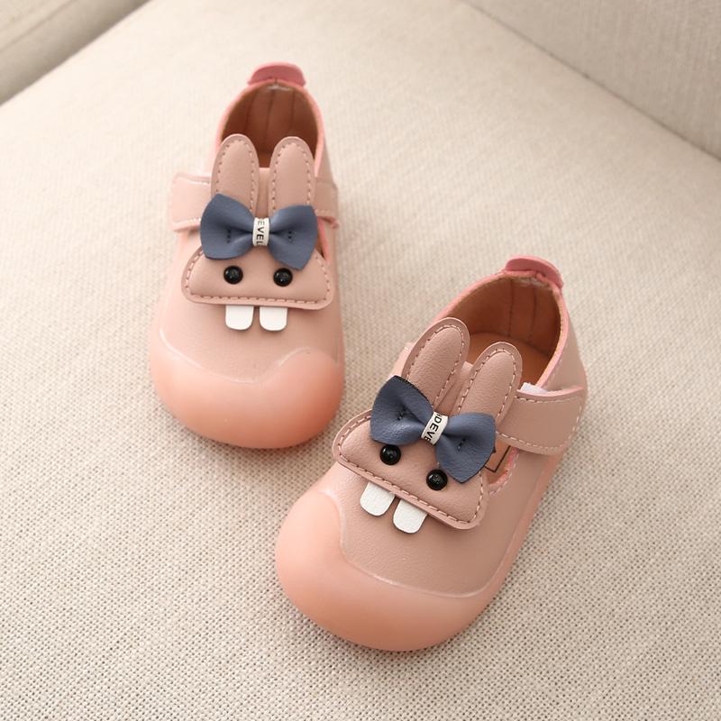 女宝宝鞋子公主鞋0-1岁2婴儿学步鞋软底童鞋防滑单鞋秋冬皮鞋防踢
