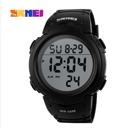 時刻美ファッションビジネス多機能男性電子時計LED防水水泳アウトドアスポーツ腕時計男性時計