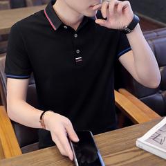 夏季衫男短袖翻领恤修身韩版潮流休闲半袖学生上衣服T002-P35