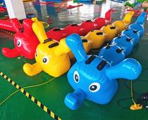 户外趣味运动会体育比赛道具用品亲子游戏充气毛毛虫龟兔赛跑气模