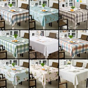 网红桌布布艺棉麻家用台布防水防油免洗长方形茶几餐桌北欧ins风