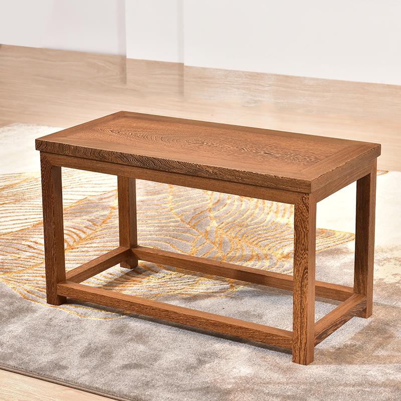 鸡翅木新中式实木茶室茶几红木方凳