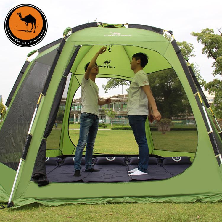 帐篷户外3-4人全自动5-8人家庭露营野外双层加厚防雨野营大帐篷