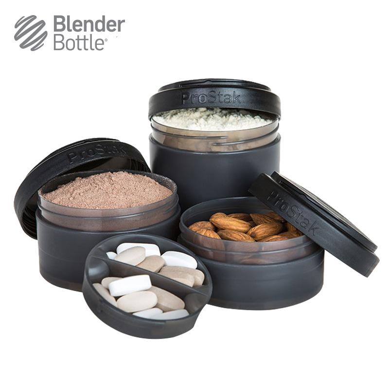 美國Expansion Pak零食罐3層塑料便攜藥盒奶粉盒 隨意 儲物罐