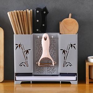 还不晚筷子筒壁挂式筷笼子沥水置物架托家用筷笼筷筒厨房餐具勺子