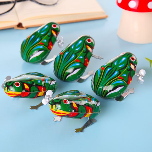 铁皮青蛙跳跳蛙发条儿童宝宝玩具经典80后怀旧复古大号弹跳青蛙