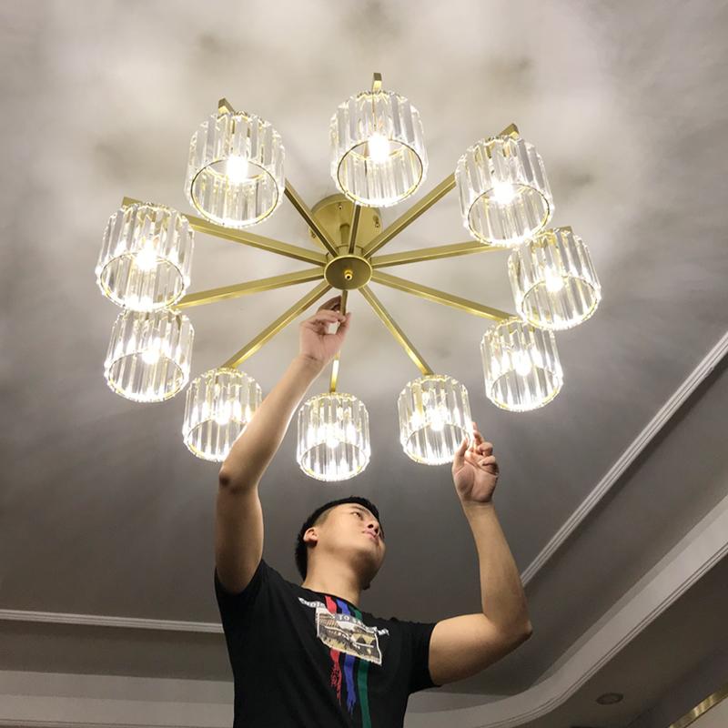 《客厅灯具水晶灯》