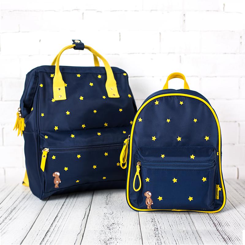 Kinbor спокойной ночи плечи портфель большой потенциал студент рюкзак oxford сумка случайный пакета