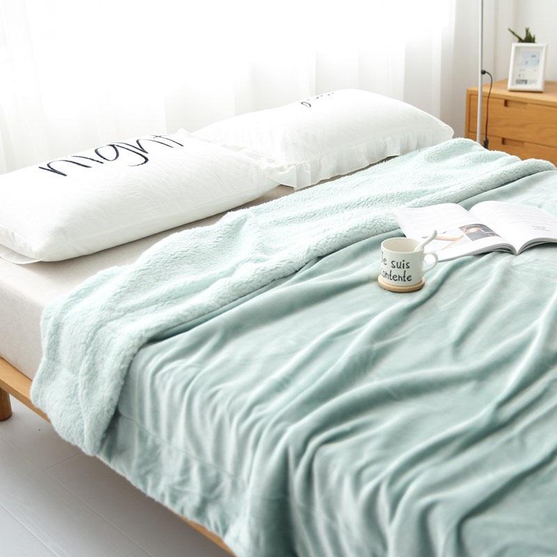 珊瑚绒毯仿冬季绒加厚午睡毛毯双层单双人盖毯床盖羊羔毯子