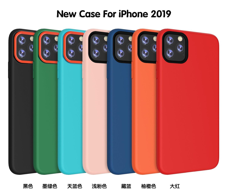 适用iphoneXSMAX纯色硅胶软壳7plus磨砂手感Xr手机壳苹果1pro撞24.00元包邮