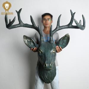 欧式复古鹿头壁挂壁饰墙面装饰家居客厅酒吧商铺动物头墙面挂件