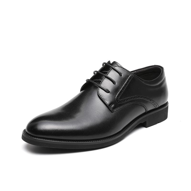 红蜻蜓男鞋2021年春新款商务皮鞋男英伦风真皮德比鞋男士正装鞋子