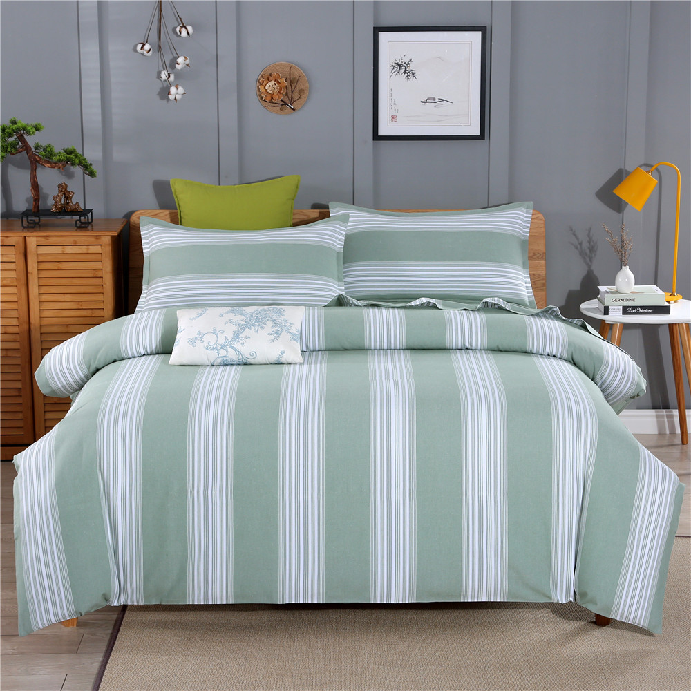 Manufacturers old coarse cloth bed sheet single worsted cotton four piece set three piece double quilt cover boxing national style