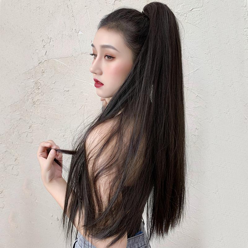 马尾女长发抓夹超长款网红辫子假发