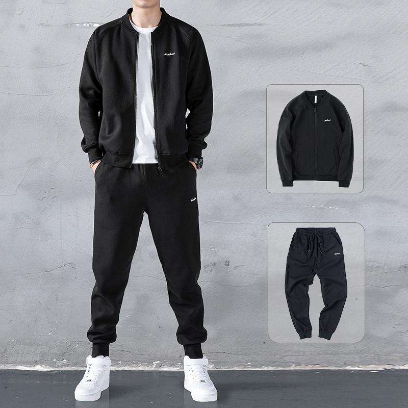 卫衣男运动套装2020春季新款潮流棒球服外套搭配帅气两件休闲服装图片